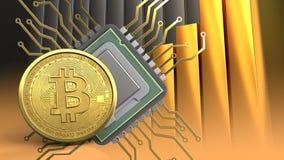 bitcoin 3d Immagini Stock