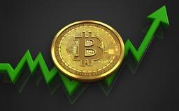 bitcoin 3d Royaltyfria Bilder