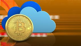 bitcoin 3d Lizenzfreie Stockfotos