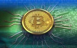 bitcoin 3d Chipschema Stockfoto