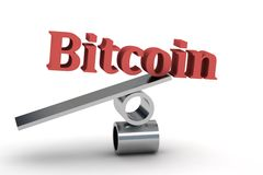 Bitcoin 3d Royalty Free Stock Photos