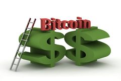 Bitcoin 3d Stock Photography