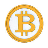 Bitcoin. 3d render of abstract bitcoin coin isolated over white background royalty free illustration