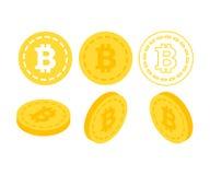 Bitcoin 3d sänker isometriska pengar Royaltyfri Bild