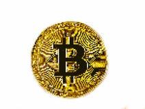 Bitcoin da arte do pixel Fotografia de Stock Royalty Free