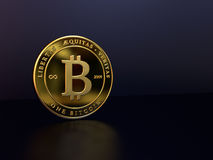 Bitcoin on Dark Background Royalty Free Stock Photo