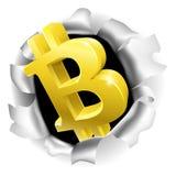 Bitcoin, das Hintergrund-Wand-Konzept bricht lizenzfreie abbildung