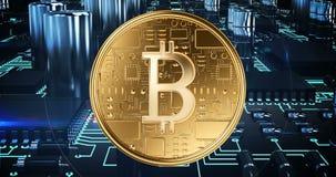 Bitcoin, das 4k gewinnt stock footage