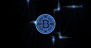 Bitcoin data pulse stock video footage