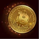 Bitcoin de devise de Digital - dirigez la conception graphique d'illustration de concept Image stock