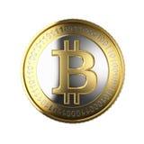 Bitcoin de oro Fotografía de archivo