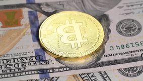 Bitcoin de oro contra d?lar metrajes