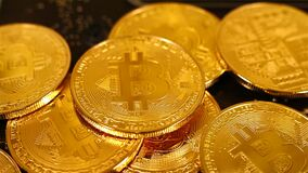 Bitcoin de oro Cryptocurrency metrajes