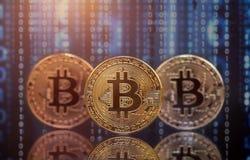 Bitcoin de oro Cryptocurrency foto de archivo