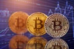 Bitcoin de oro Cryptocurrency imagenes de archivo