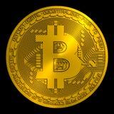 Bitcoin de oro rendido ilustración del vector