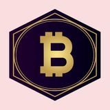 Bitcoin dell'icona - idea per il logo Fotografia Stock