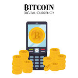 Bitcoin design Stock Image