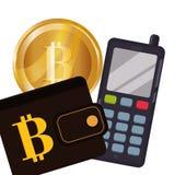 Bitcoin design Stock Photo