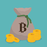 Bitcoin design. Royalty Free Stock Photography