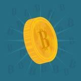 Bitcoin design. Stock Image
