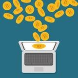 Bitcoin design. Stock Images