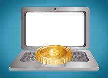 Bitcoin design. Royalty Free Stock Photos