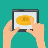 Bitcoin design. Stock Photo