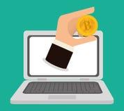 Bitcoin design. Royalty Free Stock Photo