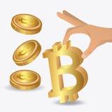 Bitcoin design, vector illustration. Bitcoin desgin over white background, vector illustration royalty free illustration