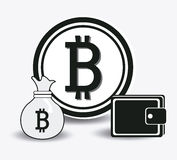 Bitcoin design, vector illustration. Stock Images