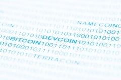 Bitcoin Devcoin betalningsystem Royaltyfria Bilder