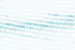 Bitcoin Devcoin Payment Systems Royalty Free Stock Images