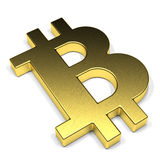 Bitcoin di simbolo Fotografia Stock Libera da Diritti