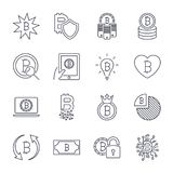 Bitcoin different icons set for internet money crypto currency symbol and coin image for using in web, apps, programs and other. E Royalty Free Stock Photo