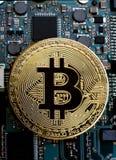 Bitcoin digital cryptocurrency Royaltyfria Bilder