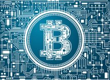 Bitcoin digital currency background Royalty Free Stock Photography