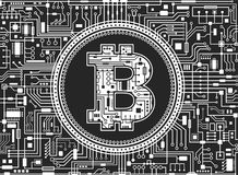 Bitcoin digital currency background Royalty Free Stock Image