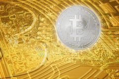 Bitcoin digital Financial growth currency. concept economy technology background. Bitcoin digital Financial growth currency concept economy technology background stock photography