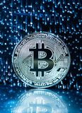 Bitcoin digital valuta fotografering för bildbyråer