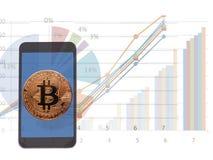 Bitcoin, Digitale munt Cryptocurrency stock fotografie