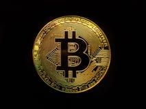 Bitcoin digitalt Cryptocurrency mynt royaltyfria bilder