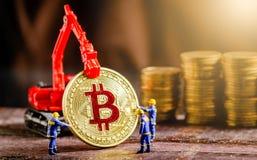 Bitcoin digitalt cryptocurrencybegrepp royaltyfri fotografi