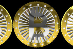 Bitcoin do ouro Foto de Stock