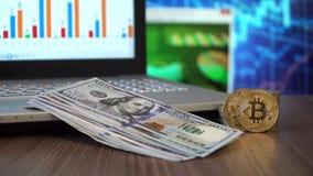 Bitcoin dolary i zbiory wideo
