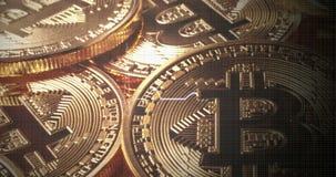 Bitcoin is Dood De crypto-manie is eind Bitcoinbel stock video