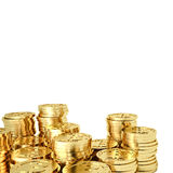 Bitcoin dorato Immagine Stock
