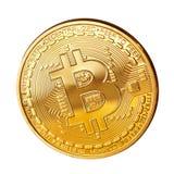 Bitcoin dorato Fotografia Stock