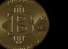 Bitcoin dorato Fotografie Stock