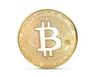 Bitcoin dorato ha isolato Fotografia Stock Libera da Diritti